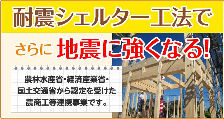 地震に強い構造 耐震シェルター工法の家